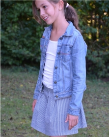 jupe happy lou and me version mini en denim